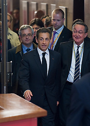 Nicolas Sarkozy, France's president, departs after the euro-zone summit in Brussels, Belgium, on Friday, May 7, 2010. (Photo © Jock)