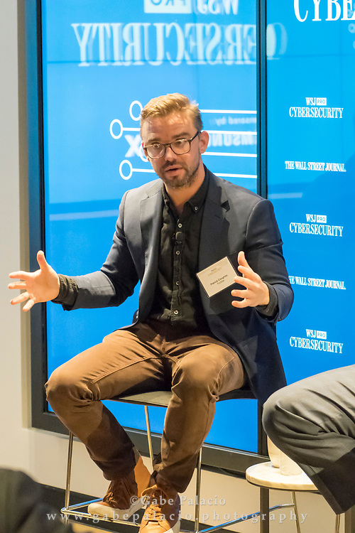 The WSJpro Cybersecurity event featuring Patrick Coughlin, COO TruStar, in New York City on December 12, 2017. (photo by Gabe Palacio)