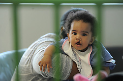 South Africa - Cape Town - 27 August 2020 - Six-month-old Tiane Gia Wenn and her mother, Tania Wenn from Eerste River, awaits there turn to have a Cleft Lip and Palate operation. Doctor Liezl du Toit performed several reconstructive surgeries throughout the course of the day. She is a plastic surgeon and part of the Tygerberg pediatric plastic surgeon team. The Smile Foundation is a South African non-governmental organisation with a comprehensive healthcare vision for children living with facial conditions. Photographer: Armand Hough/African News Agency(ANA)