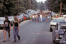 People On the Way to Experience The Grateful Dead Concert at Raceway Park, Englishtown NJ on 3 September 1977, Labor Day Weekend. On The Road into the Show.