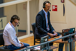 Peter Blange in action during the CEV Eurovolley 2021 Qualifiers between Croatia and Netherlands at Topsporthall Omnisport on May 16, 2021 in Apeldoorn, Netherlands