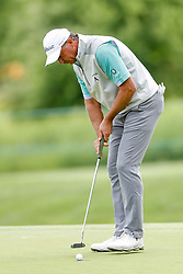 June 22, 2018 - Madison, WI, U.S. - MADISON, WI - JUNE 22: Jerry Smith putts on the ninth green during the American Family Insurance Championship Champions Tour golf tournament on June 22, 2018 at University Ridge Golf Course in Madison, WI. (Photo by Lawrence Iles/Icon Sportswire) (Credit Image: © Lawrence Iles/Icon SMI via ZUMA Press)