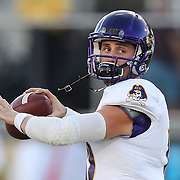 ORLANDO, FL - OCTOBER 14: Thomas Sirk #10 of the East Carolina Pirates is seen during a NCAA football game between the East Carolina Pirates and the UCF Knights at Spectrum Stadium on October 14, 2017 in Orlando, Florida. (Photo by Alex Menendez/Getty Images)