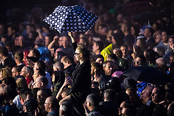© Licensed to London News Pictures . 01/07/2017 . Manchester , UK . Hacienda Classical play at the Castlefield Bowl as part of Sounds of the City , during the Manchester International Festival . A collaboration between DJs Mike Pickering and Graeme Park and the Manchester Camerata orchestra , Hacienda Classical reworks music by bands including the Happy Mondays and New Order and features Manchester musicians including Rowetta and Peter Hook . Photo credit : Joel Goodman/LNP