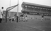 All Ireland Minor Football Final Kerry v. Westmeath, Croke Park..Following the melee in the Kerry goalmouth, packed with Westmeath forwards, the referee awarded a free to Kerry.22.09.1963