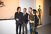 VLADIMIR ROITFELD; ANDY VALMORBIDA; MASSIMO REDAELLI; WARLY TOMEI;, Richard Hambleton private view.- New York- Godfather of Street art presented by Vladimir Restoin Roitfeld and Andy Valmorbida in collaboration with Giorgio armani. The Old Dairy. London. 18 November 2010. -DO NOT ARCHIVE-© Copyright Photograph by Dafydd Jones. 248 Clapham Rd. London SW9 0PZ. Tel 0207 820 0771. www.dafjones.com.
