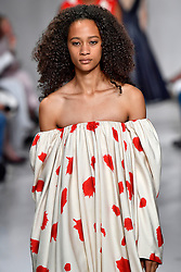 Model Selena Forest walks on the runway during the Calvin Klein Fashion show at New York Fashion Week Spring Summer 2018 held in New York, NY on September 7, 2017. (Photo by Jonas Gustavsson/Sipa USA)