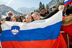 Supporters during the Trial Round of the Ski Flying Hill Individual Competition at Day 1 of FIS Ski Jumping World Cup Final 2019, on March 21, 2019 in Planica, Slovenia. Photo by Vid Ponikvar / Sportida