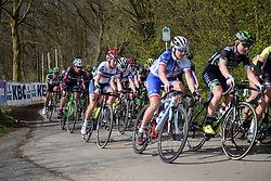 Cecilie Uttrup Ludwig on the descent off Kemmelberg at Women's Gent Wevelgem 2017. A 145 km road race on March 26th 2017, from Boezinge to Wevelgem, Belgium. (Photo by Sean Robinson/Velofocus)