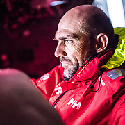 Leg 6 to Auckland, day 12 on board MAPFRE, Xabi Fernandez receiving a sched. 18 February, 2018.