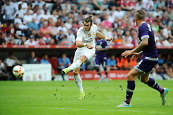 04.08.2015, Allianz Arena, Muenchen, GER, AUDI CUP, Real Madrid vs Tottenham Hotspur, im Bild Gareth Bale (Real Madrid) erzielt das 2:0 gegen seinen Ex-Verein // during the 2015 Audi Cup Match between Real Madrid and Tottenham Hotspur at the Allianz Arena in Muenchen, Germany on 2015/08/04. EXPA Pictures © 2015, PhotoCredit: EXPA/ Eibner-Pressefoto/ Stuetzle<br /> <br /> *****ATTENTION - OUT of GER*****