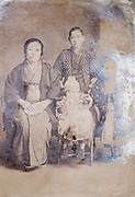 eroding family portrait Japan ca 1930s