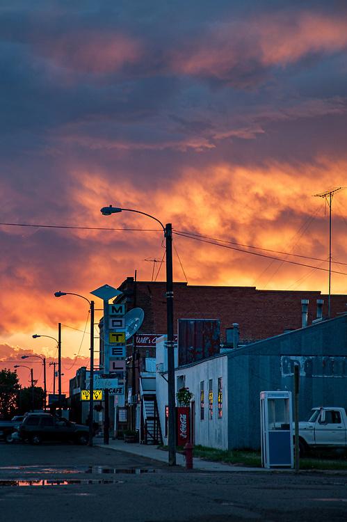 Stormy sky over rural Saco, Montana.