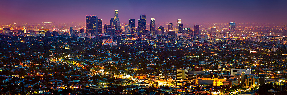 Downtown Los Angeles from Griffith Observatory. Los Angeles, CA