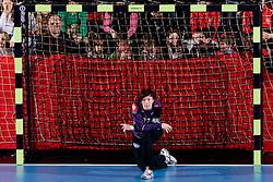 Goalkeeper of Krim Sergeja Stefanisin during 3rd Main Round of Women Champions League handball match between RK Krim Mercator, Ljubljana and Larvik HK, Norway on February 19, 2010 in Arena Kodeljevo, Ljubljana, Slovenia. Larvik defeated Krim 34-30. (Photo by Vid Ponikvar / Sportida)