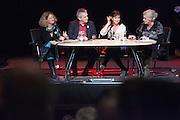 Judith Sargentini, Tof Thissen en Jolande Sap (vlnr) debatteren onder leiding van Wouke van Scherrenburg. In Utrecht vindt het 30e partijcongres plaats van GroenLinks. Een van de heikele punten is de missie naar Kunduz. Ook wordt een nieuwe partijvoorzitter gekozen.<br /> <br /> Judith Sargentini, Tof Thissen and Jolande Sap (left to right) are debating at the convention. The Dutch party GroenLinks (Green party) holds its 30th convention in Utrecht. One of the big issues is the mission to Kunduz. They will also elect the new chairman of the party.
