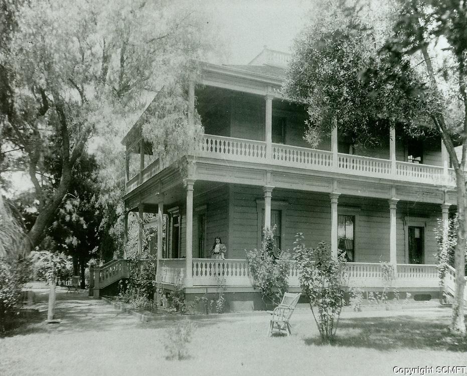 1898 Home of Cornelius Cole located at NW corner of Santa Monica Blvd. & Gower St.