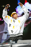 Chris Brown performs at the MyCokefest concert in Indianapolis, Indiana on April 2, 2006. Photo by Michael Hickey