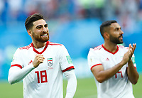 Alireza Jahanbakhsh (Iran) celebration end of the match<br /> Saint Petersburg 15-06-2018 Football FIFA World Cup Russia  2018 <br /> Morocco - Iran / Marocco - Iran <br /> Foto Matteo Ciambelli/Insidefoto