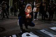 {datesort} /URUGUAY / MONTEVIDEO / Concentración convocada por el Comité Palestina Libre / Uruguay, en solidaridad con la lucha del pueblo palestino y contra la agresión israelí. La concentración se realizó en Plaza Cagancha.<br /> <br /> En la foto: Concentración en solidaridad con Palestina, en Plaza Cagancha. Foto: Santiago Mazzarovich / adhocFOTOS