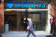 Branch of Barclays Bank on High Holborn, London. This is one of the major high street banks in the UK.