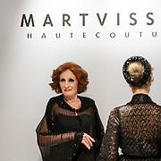 NLD/Amsterdam/20150306 - Modeshow Mart Visser 2015 Spring Summer, Contemporary Contrast, Gerrie van der Kleij als mannequin