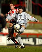 Photo: Alan Crowhurst.<br />Brentford v Bradford City. Coca Cola League 1. 08/04/2006. Craig Bentham clears for Bradford.