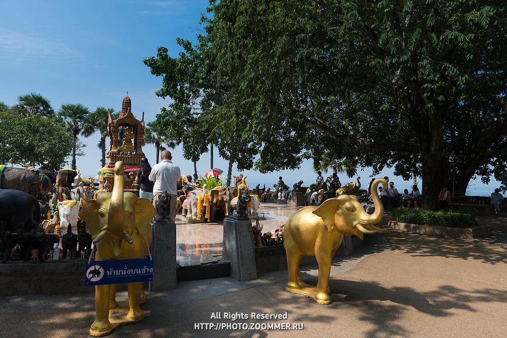 Shrine to elephants on Promthep cape, Phuket