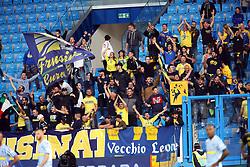 """Foto Filippo Rubin<br /> 28/10/2018 Ferrara (Italia)<br /> Sport Calcio<br /> Spal - Frosinone - Campionato di calcio Serie A 2018/2019 - Stadio """"Paolo Mazza""""<br /> Nella foto: I TIFOSI DEL FROSINONE<br /> <br /> Photo Filippo Rubin<br /> October 28, 2018 Ferrara (Italy)<br /> Sport Soccer<br /> Spal vs Frosinone - Italian Football Championship League A 2018/2019 - """"Paolo Mazza"""" Stadium <br /> In the pic: FROSINONE SUPPORTERS"""