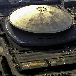 aerial artistic view of New Orleans Super dome Stadium before Hurricane Katrina