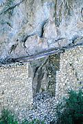 Inca Bridge<br />at Machu Picchu (Inca Ruins)<br />PERU