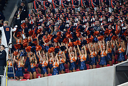 Auburn Tigers band members perform during the Chick-fil-A Peach Bowl NCAA college football game January 1, 2018, in Atlanta. (David Tulis via Abell Images for Chick-fil-A Peach Bowl)