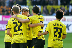 22.10.2011, SIGNAL IDUNA Park Dortmund, Dortmund, GER, 1.FBL, Borussia Dortmund vs 1. FC Köln / Koeln, im Bild Dortmunder Jubel und Marcel Schmelzer (Dortmund #29) lacht....// during the 1.FBL,  Borussia Dortmund vs 1. FC Köln / Koeln on 2011/10/22,  SIGNAL IDUNA Park Dortmund, Dortmund, Germany. EXPA Pictures © 2011, PhotoCredit: EXPA/ nph/  Herbst       ****** out of GER / CRO  / BEL ******