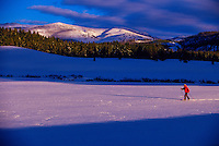 Snowshoeing at Fawn Pass, near the headwaters of the Gallatin River, Montana, Yellowstone National Park