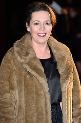 © Licensed to London News Pictures. 02/03/2016. OLIVIA COLMAN attends the Bright Young Things Gala 2016. The Gala raises funds in support of emerging talent at the National Theatre. London, UK. Photo credit: Ray Tang/LNP