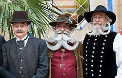 Contenders for the fourth British Beard and Moustache Championships at the Empress Ballroom, Winter Gardens, Blackpool.