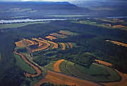 Aerial, Snyder Co., PA farms and Susquehanna River