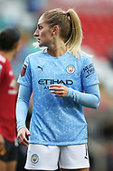 Portrait half body Manchester City midfielder Laura Coombs (7) during the FA Women's Super League match between Manchester United Women and Manchester City Women at Leigh Sports Village, Leigh, United Kingdom on 14 November 2020.