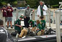 NHIAA State Qualifier bass fishing tournament at Center Harbor Beach, Lake Winnipesaukee.  Karen Bobotas for the Laconia Daily Sun