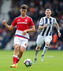 Daniel  Ayala of Middlesbrough in action - Rogan Thomson/JMP - 28/08/2016 - FOOTBALL - The Hawthornes - West Bromwich, England - West Bromwich Albion v Middlesbrough - Premier League.