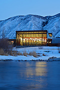 The Basalt Regional Library, located along the Roaring Fork River in Basalt, Colorado.