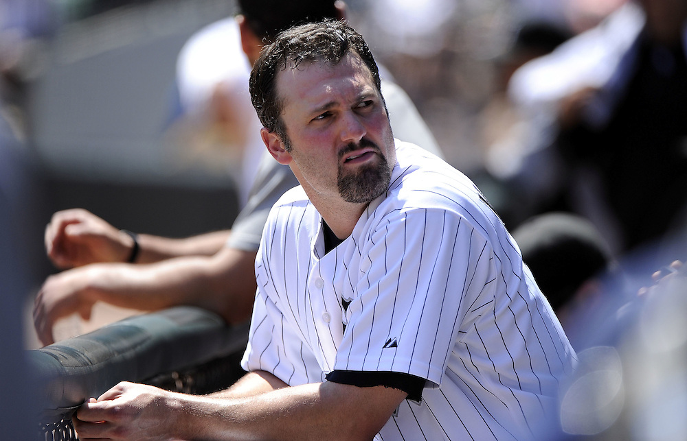 CHICAGO, IL - JUNE 26:  Paul Konerko #14 of the Chicago White Sox looks on against the Washington Nationals on June 26, 2011 at U.S. Cellular Field in Chicago, Illinois.  The Nationals defeated the White Sox 2-1.  (Photo by Ron Vesely/MLB Photos via Getty Images)  *** Local Caption *** Paul Konerko
