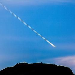 Plane trail over Edinburgh, 23/4/2015