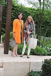 Left to right, KIRSTY ALLSOPP and CLEMENTINE FRASER at the 2013 RHS Chelsea Flower Show held in the grounds of the Royal Hospital, Chelsea on 20th May 2013.