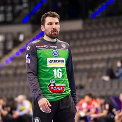 Primoz Prost (TVB Stuttgart #16) ; LIQUI MOLY HBL / 1. Handball-Bundesliga: TVB Stuttgart - HBW Balingen-Weilstetten am 17.03.2021 in Stuttgart (PORSCHE Arena), Baden-Wuerttemberg<br /> <br /> Foto © PIX-Sportfotos *** Foto ist honorarpflichtig! *** Auf Anfrage in hoeherer Qualitaet/Aufloesung. Belegexemplar erbeten. Veroeffentlichung ausschliesslich fuer journalistisch-publizistische Zwecke. For editorial use only.