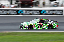 July 22, 2018 - Loudon, NH, U.S. - LOUDON, NH - JULY 22: Kyle Busch, Monster Energy NASCAR Cup Series driver of the Interstate Batteries Toyota (18), during the Foxwoods Resort Casino 301 on July 22, 2018, at New Hampshire Motor Speedway in Loudon, New Hampshire. (Photo by Fred Kfoury III/Icon Sportswire) (Credit Image: © Fred Kfoury Iii/Icon SMI via ZUMA Press)