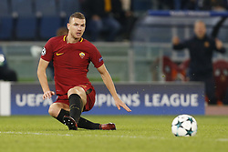 October 31, 2017 - Rome, Italy - Rome, Italy - 31/10/2017..Edin Dzeko of Roma during their UEFA Champions League Group C soccer match against Chelsea at the Olympic stadium in Rome..UEFA Champions League Group C soccer match between AS Roma and Chelsea FC at the Olympic stadium in Rome. AS Roma defeating Chelsea FC 3-0. (Credit Image: © Giampiero Sposito/Pacific Press via ZUMA Wire)