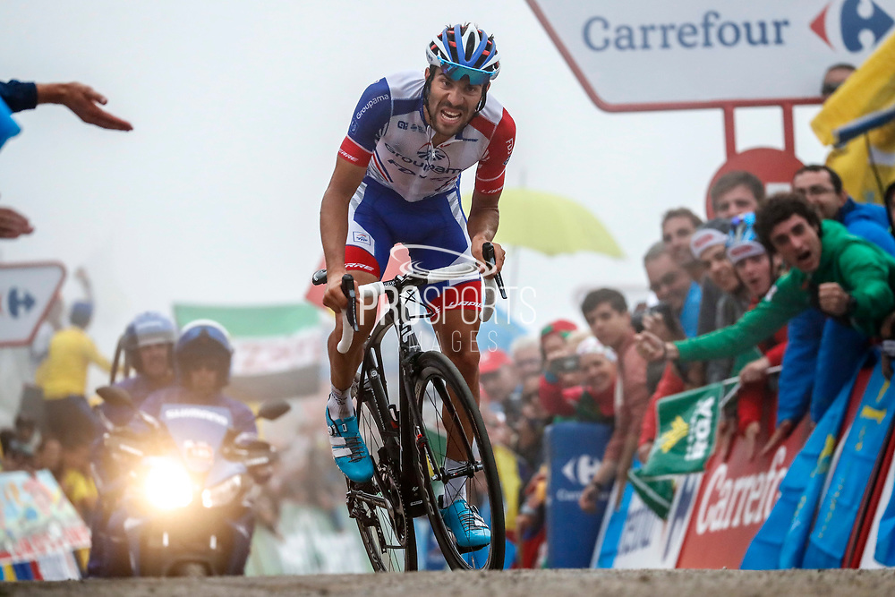 Thibaut Pinot (FRA, Groupama FDJ) at the end of the stage during the 73th Edition of the 2018 Tour of Spain, Vuelta Espana 2018, Stage 15 cycling race, 15th stage Ribera de Arriba - Lagos de Covadonga 178,2 km on September 9, 2018 in Spain - Photo Luis Angel Gomez/ BettiniPhoto / ProSportsImages / DPPI