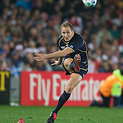 Dan Parks, Scotland, kicking during the England V Scotland Pool B match during the IRB Rugby World Cup tournament. Eden Park, Auckland, New Zealand, 1st October 2011. Photo Tim Clayton...