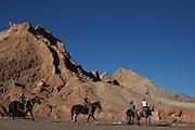 Horse-Riding in Valle de la Luna, Atacama Desert, near San Pedro de Atacama, Chile